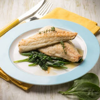 Citrus Cod with Spinach.