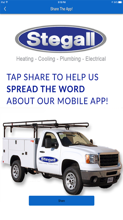 Stegall HVAC- screenshot