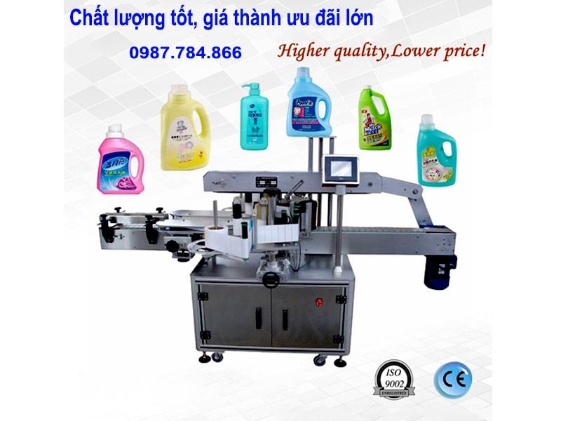 bán máy dán nhãn decal chai vuông tự động