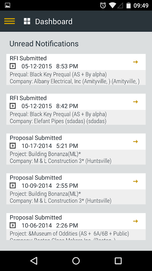 SmartBidNet for Construction- screenshot