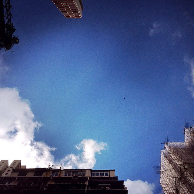 Blue, Sky, Hong Kong,  香港, 藍, 天空, 藍天空,