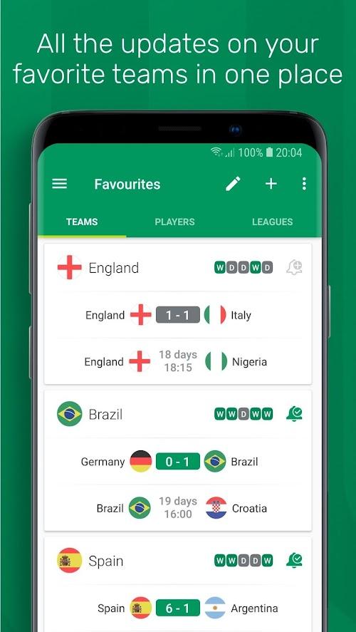 Screenshot 4 FotMob - Live Soccer Scores 88.0.5796.20181122 APK PAID