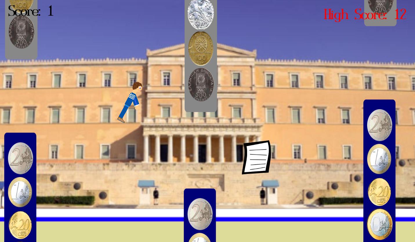 Flappy Μνημόνιο - στιγμιότυπο οθόνης