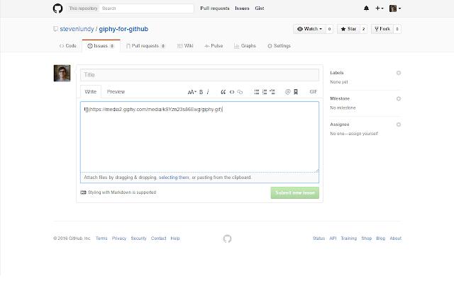 Giphy for GitHub