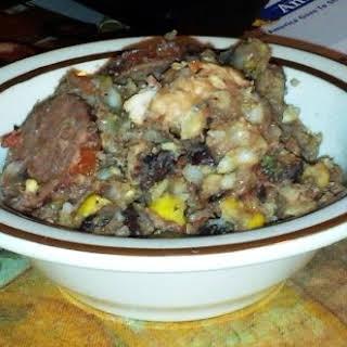 Crock Pot Kielbasa and Chicken Gumbo.