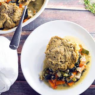 Rosemary Sea Salt Oat Drop Biscuit Chicken Pot Pie - Gluten Free.