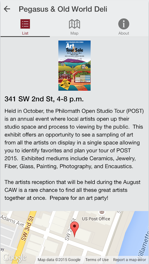 Corvallis Arts Walk- screenshot