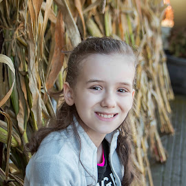 Rayla by Jenny Hammer - Babies & Children Child Portraits ( fall, corn, pumpkin patch, girl, cute )
