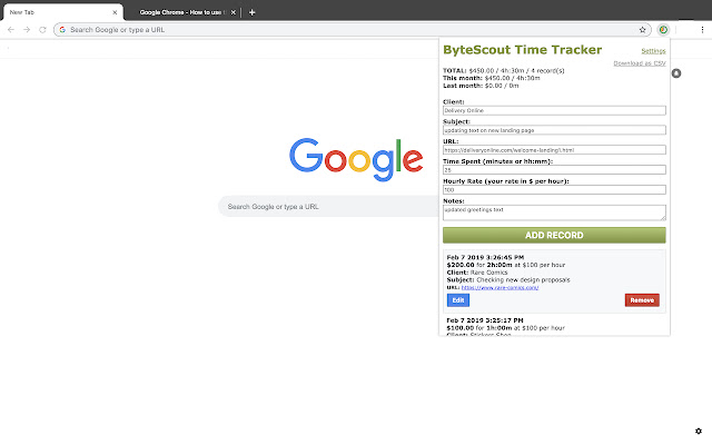 ByteScout Time Tracker