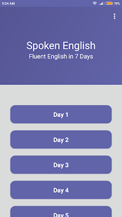 Spoken English in 7 days