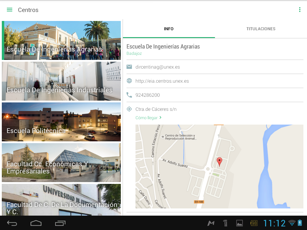 Universidad de Extremadura- screenshot