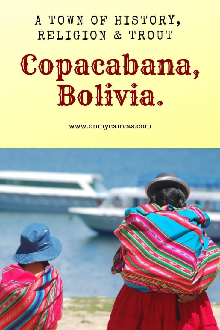 women+daughter+walking+towards+ferries+shore+el+lago+titicaca+copacabana+bolivia