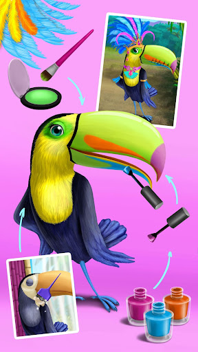 Jungle Animal Hair Salon - Styling Game for Kids android2mod screenshots 6