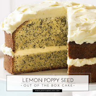 Lemon Poppy Seed Out of the Box Cake.