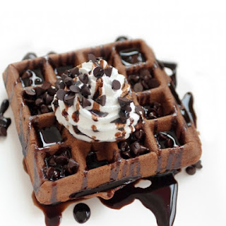 Chocolate Fudge Brownie Waffles