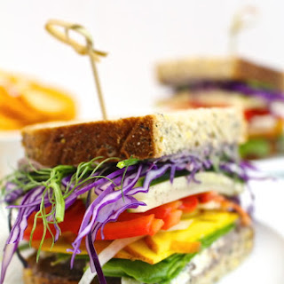 Spicy Black Bean Hummus Vegetable Sandwiches