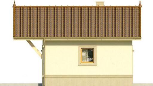 Domek 4 - Elewacja lewa