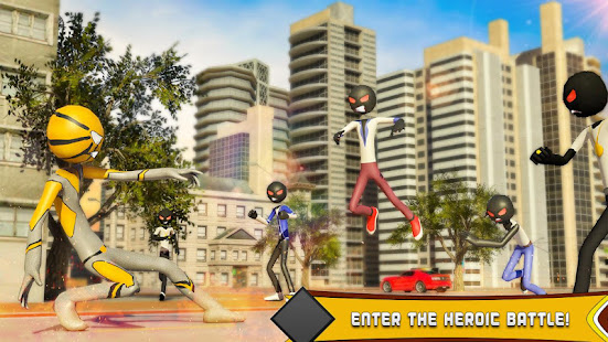 Download Spider Stickman Hero: Gangster crime City For PC Windows and Mac apk screenshot 10