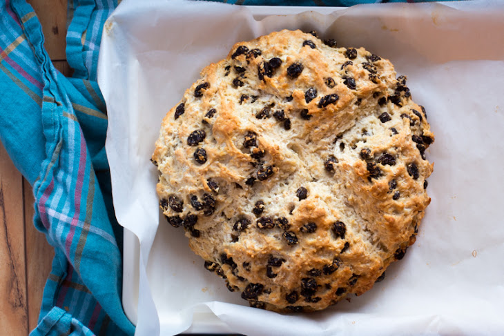 Soda Bread with Raisins and Orange Zest | #BreadBakers