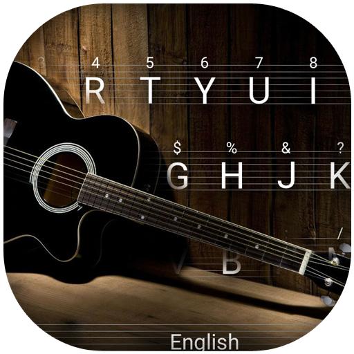 Guitar Love Song Theme&Emoji Keyboard