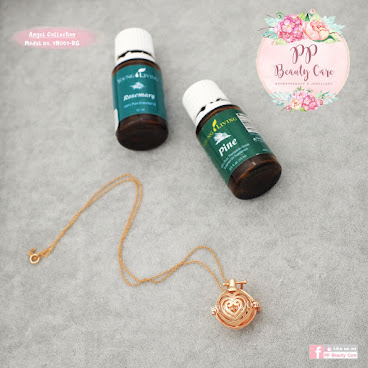 9N001-RG_Love Collection: 14k Rose Gold Classic essential oil necklace diffuser Love系列:14k玫瑰金精油項鏈