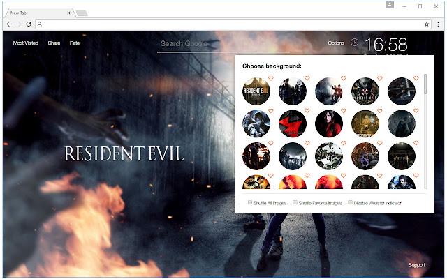 Resident Evil Custom New Tab by freeaddon.com