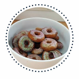 75 Cent Cake Mix Donuts With Edible Glitter Icing.