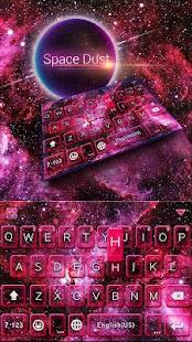 Space Dust Emoji Kika Keyboard - náhled