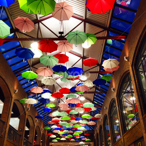 Umbrellas On The Ceiling