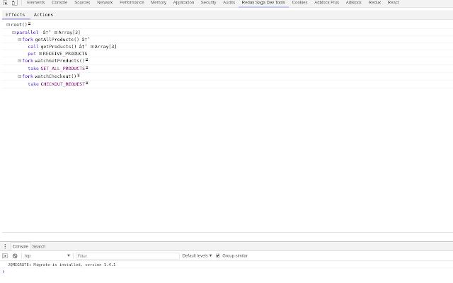 Redux Saga Dev Tools