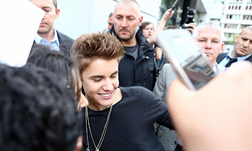 Photo: Singer Justin Bieber was seen being greeted by his fans as he payed a visit to NRJ radio station in Paris, France on May 31, 2012. RESTRICTIONS APPLY: USA/AUSTRALIA/NEW ZEALAND ONLY
