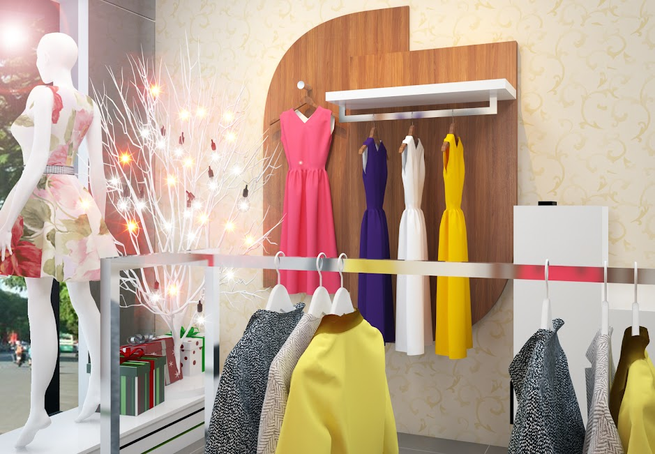 thiết kế shop thời trang diện tích nhỏ tiết kiệm không gian