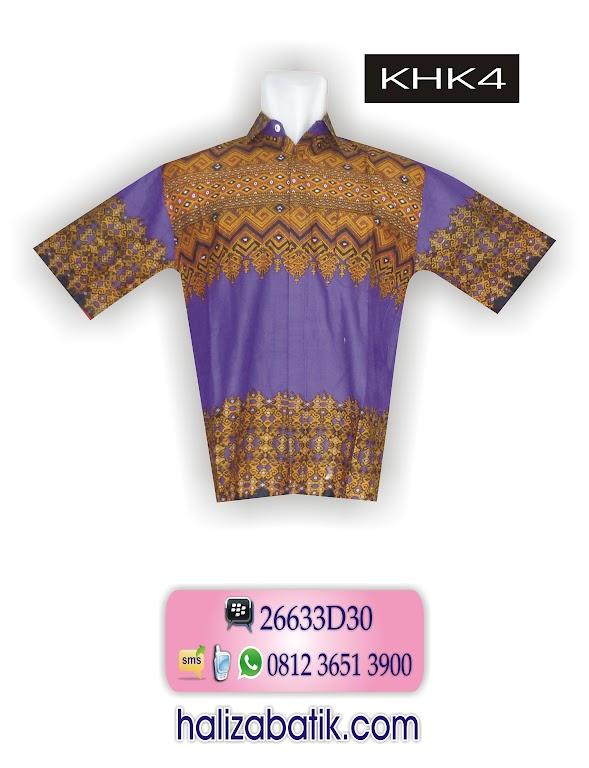 Busana Batik Modern, Contoh Batik, Baju Kerja Batik, KHK4