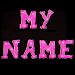 3D My Name Pink Live Wallpaper Icon