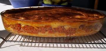 """Greek Pasta Casserole """"Pastichio"""""""
