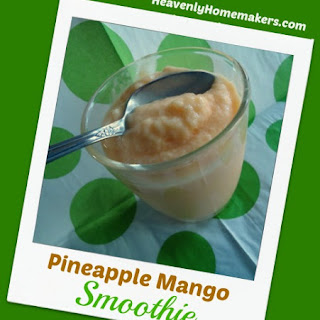 Pineapple Mango Smoothies (No Sugar Added – Dairy Free Option) Recipe