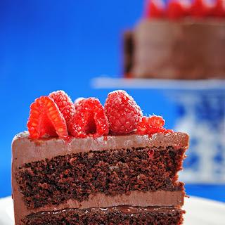 Chocolate-Raspberry Layer Cake.