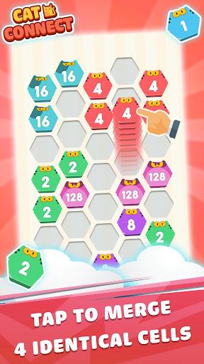 Cat Cell Connect - Merge Number Hexa Blocks 1.0.1 screenshots 1