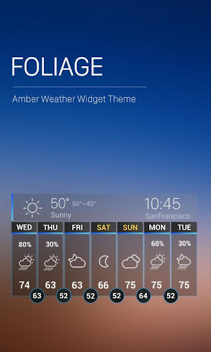 News Weather App Widgets