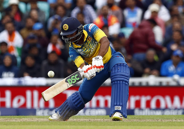 Sri Lanka's Asela Gunaratne in action in the ICC Champions Trophy at the Oval on Thursday. Picture: REUTERS/PETER CZIBORRA LIVEPI