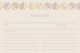 Floral Border - Recipe Card item