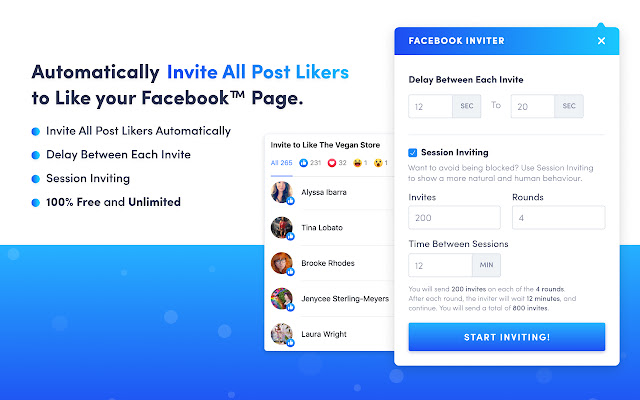 Invite Post Likers to Like Facebook™ Page