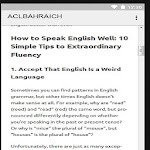 ACL ENGLISH SPEAKING