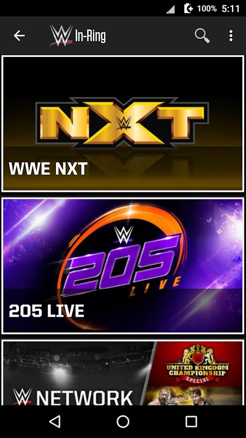 Screenshots of WWE for iPhone