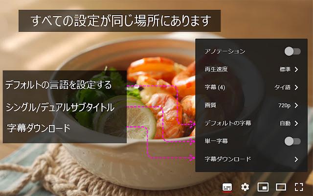 YouTube™ デュアル字幕