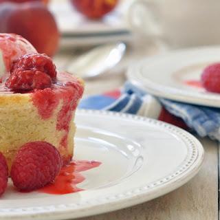 Peach Melba Cakes