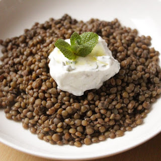 Puy Lentils with Minted Yogurt Recipe