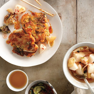 Kimchi Fritters with Soy Dipping Sauce