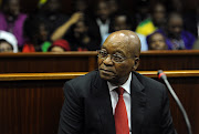 File photo of president Jacob Zuma sitting in the dock during his brief appearance at the Durban High Court.