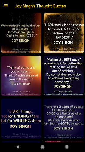 Thought Quotes by Joy Singh ✍?? screenshot 1
